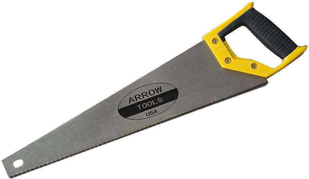 """Ножовка по дереву, резиновая ручка 450мм-18"""""""