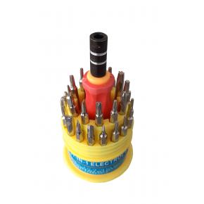 Отвертка мини со сменными насадкам 31в1