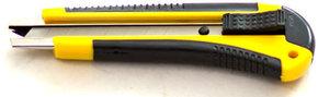 Нож канцелярский с обрезиненной ручкой